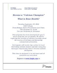 What is Bone Health? @ Sarnia | Ontario | Canada