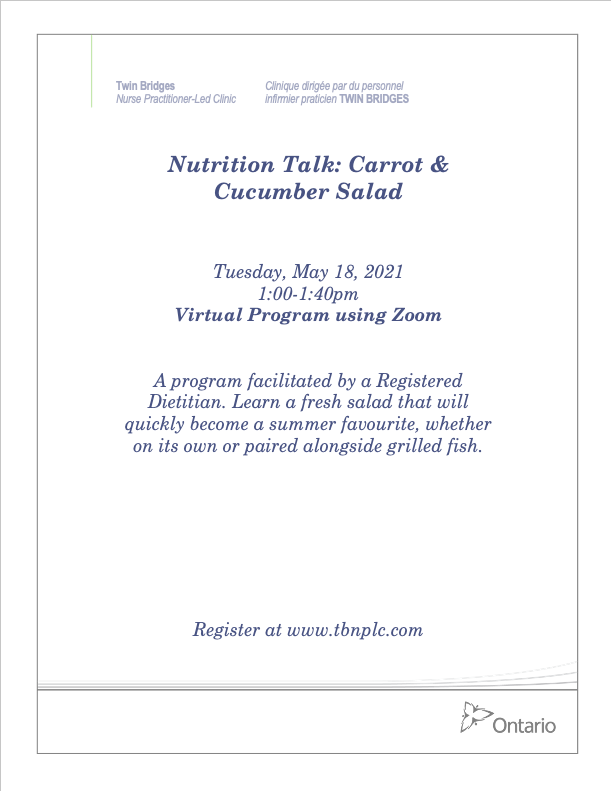Nutrition Talk: Carrot & Cucumber Salad