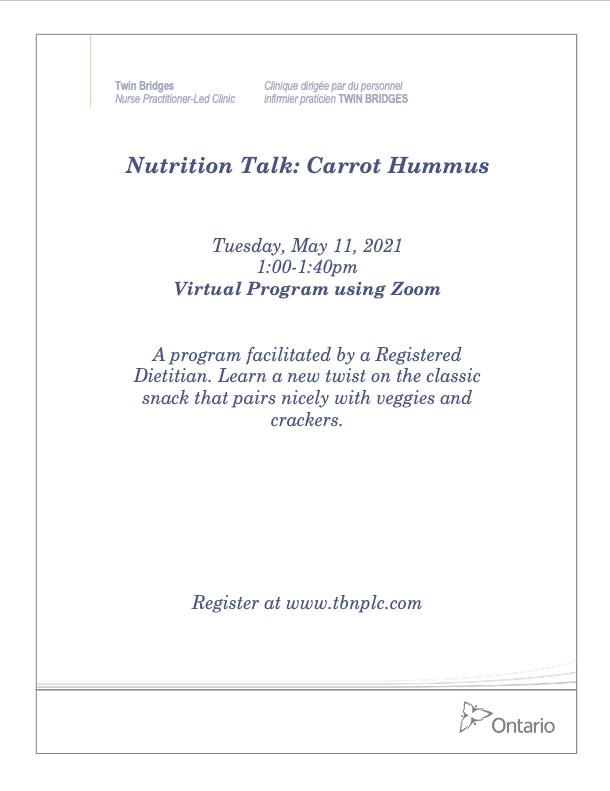 Nutrition Talk: Carrot Hummus