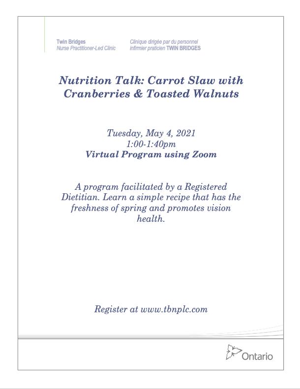 Nutrition Talk: Carrot Slaw