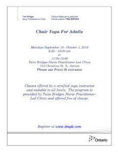 Chair Yoga @ TBNPLC | Sarnia | Ontario | Canada