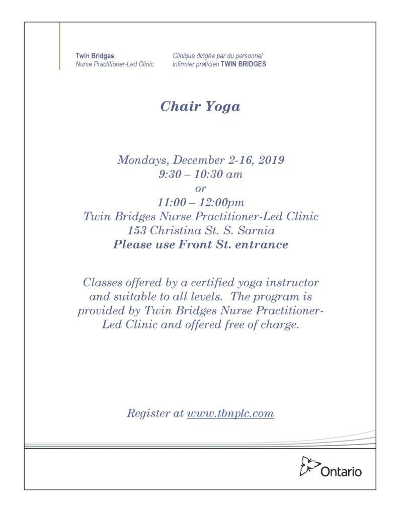 Chair Yoga @ Twin Bridges NPLC