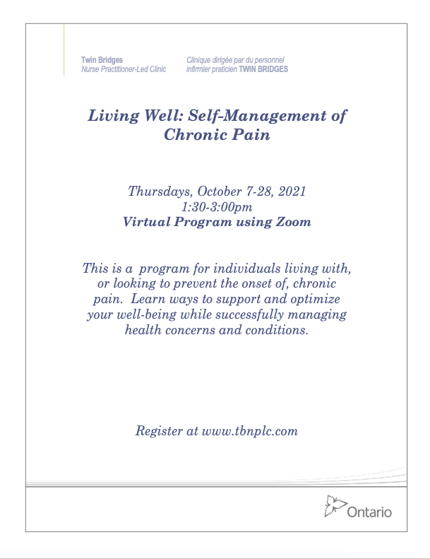 Living Well with Chronic Pain - VIRTUAL