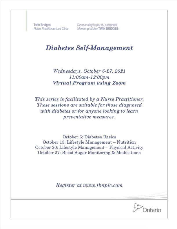 Diabetes Self-Management - VIRTUAL