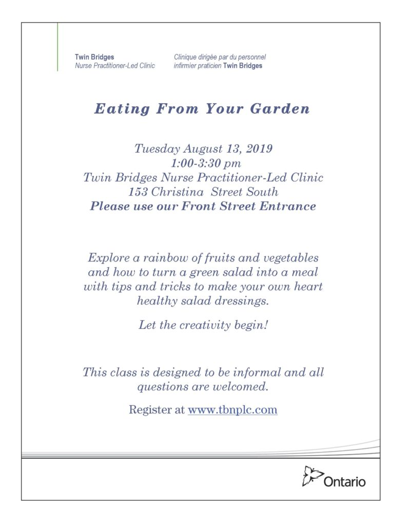 Eating From Your Garden @ Twin Bridges NPLC
