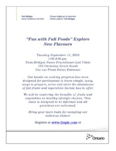 """""""Fun with Fall Foods"""" Explore New Flavours @ Sarnia 