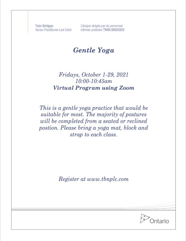 Gentle Yoga - VIRTUAL