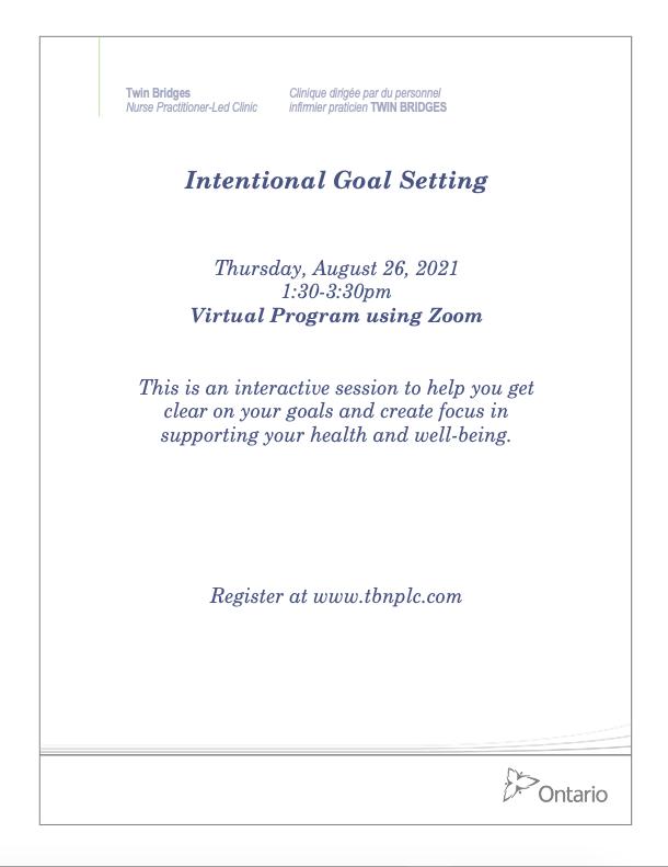 Intentional Goal Setting - VIRTUAL