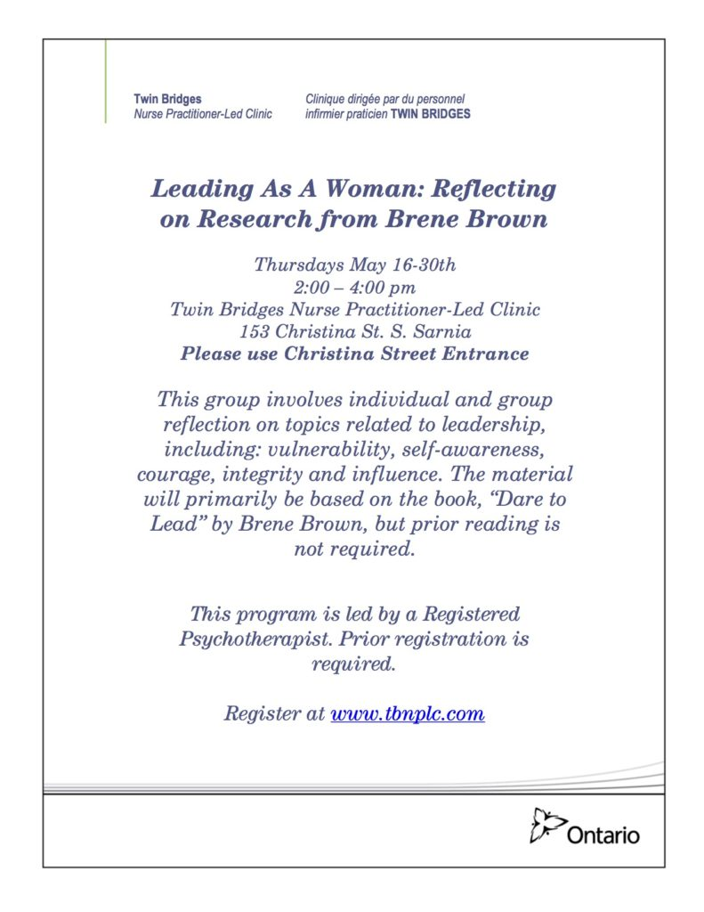 Leading as a Woman @ Twin Bridges NP-Led Clinic