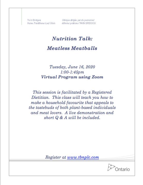 Nutrition Talk: Meatless Meatballs