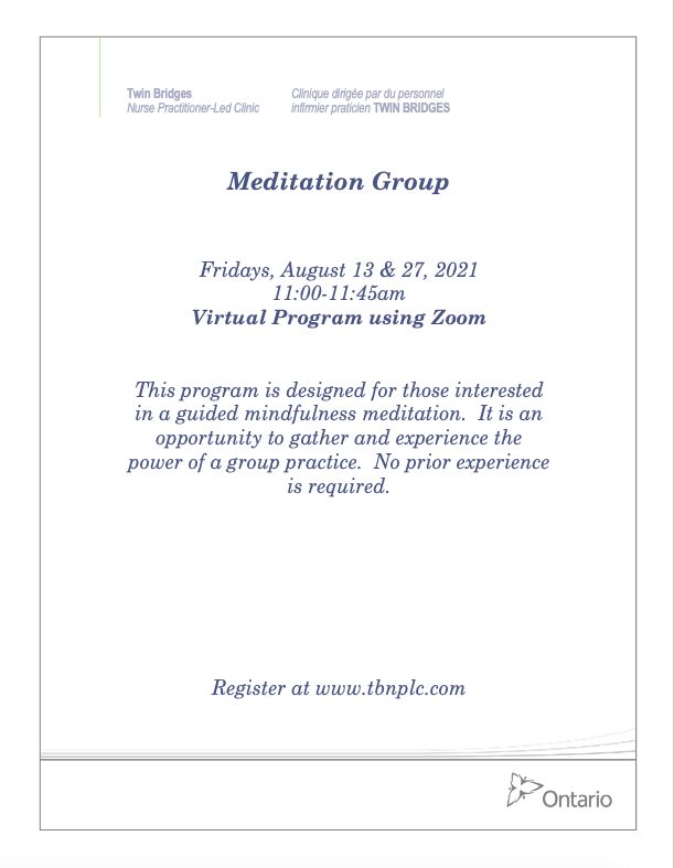 Meditation Group - VIRTUAL