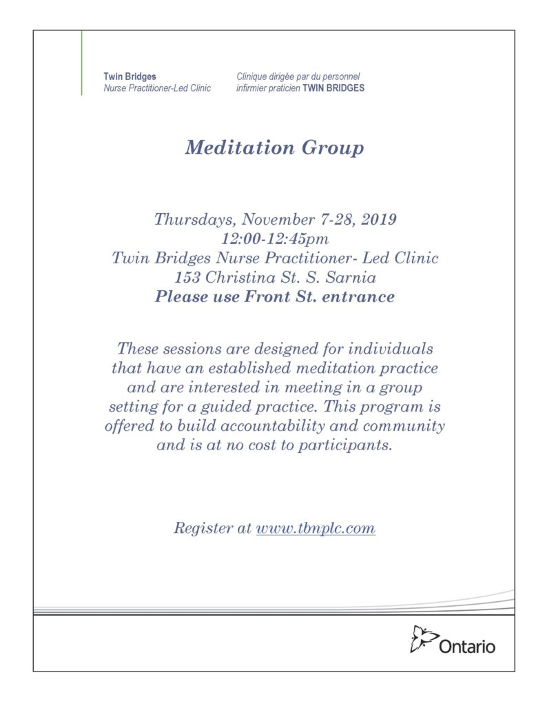 Meditation Group @ Twin Bridges NPLC