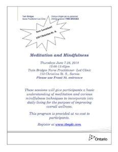Meditation and Mindfulness @ TBNPLC | Sarnia | Ontario | Canada