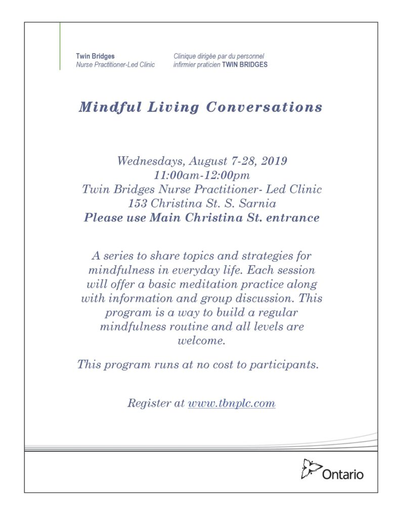 Mindful Living Conversations @ Twin Bridges NPLC