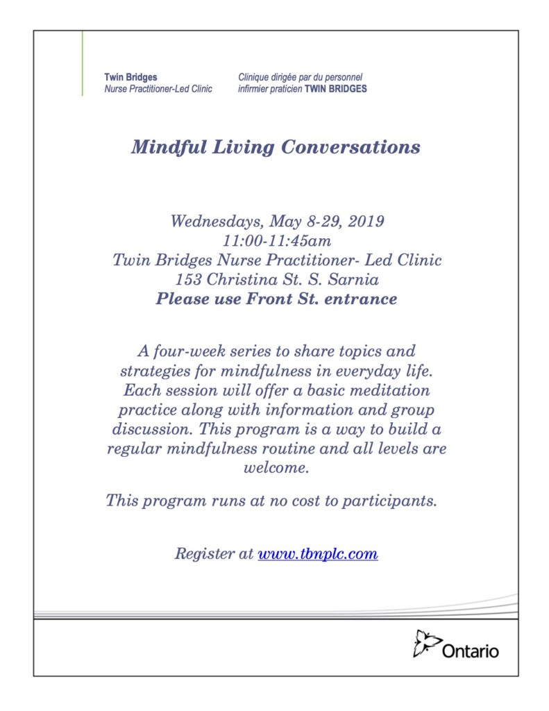 Mindful Living Conversations @ Twin Bridges NPLC