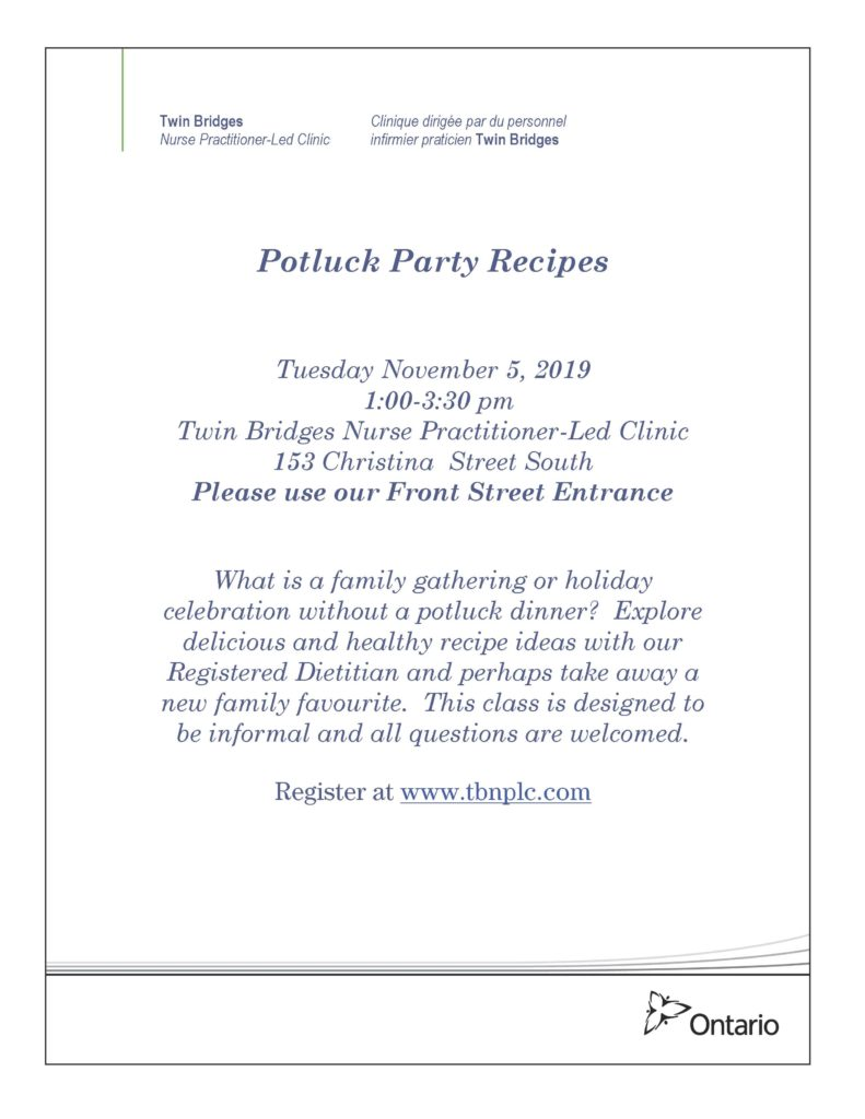 Potluck Party Recipes @ Twin Bridges NPLC