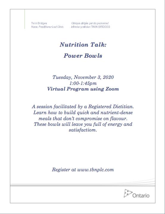 Nutrition Talk: Power Bowls