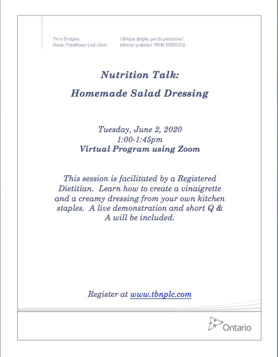 Nutrition Talk: Homemade Salad Dressing