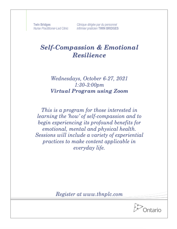 Self-Compassion & Emotional Resilience - VIRTUAL