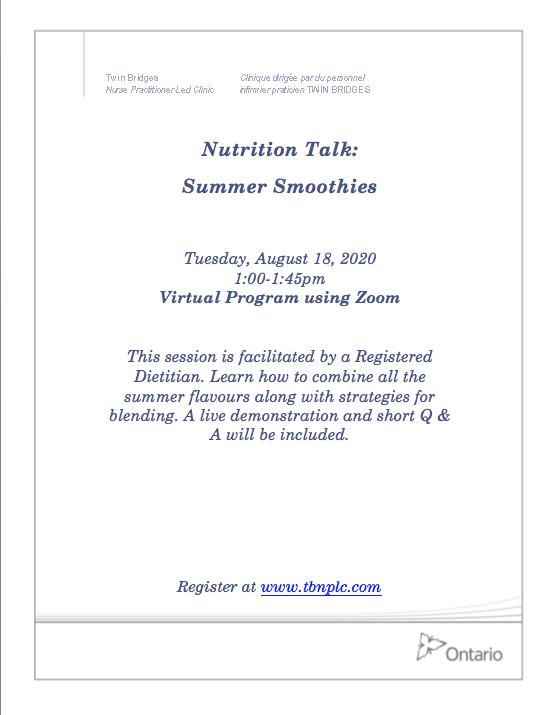 Nutrition Talk: Summer Smoothies