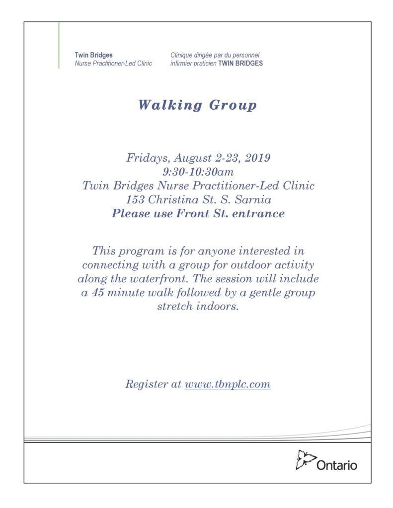 Walking Group @ Twin Bridges NP-Led Clinic