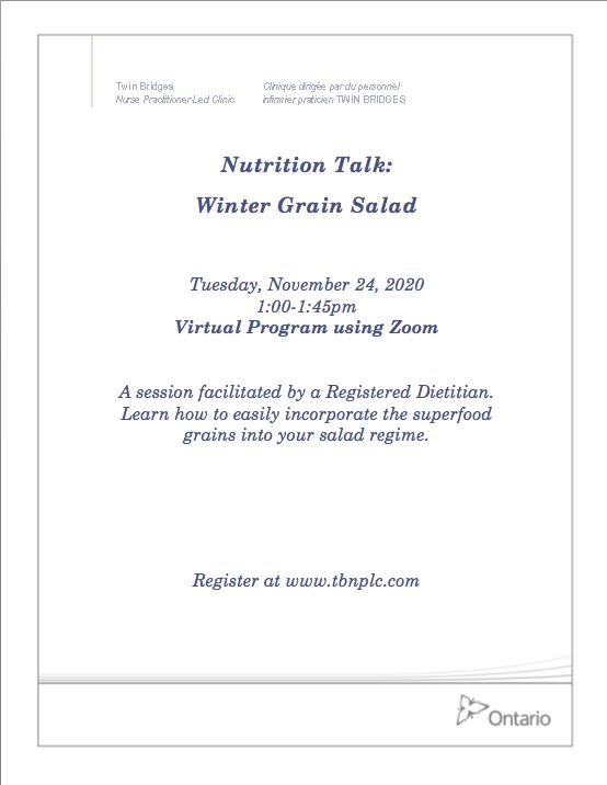 Nutrition Talk: Winter Grain Salad