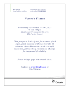 Women's Fitness @ Lighthouse Communtiy Church | Sarnia | Ontario | Canada
