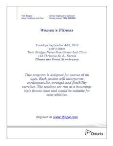 Women's Fitness @ TBNPLC | Sarnia | Ontario | Canada